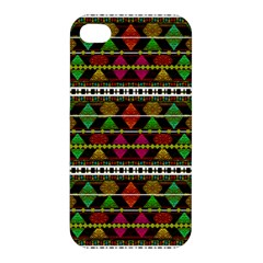 Aztec Style Pattern Apple iPhone 4/4S Premium Hardshell Case