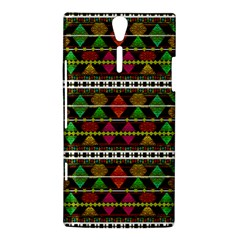 Aztec Style Pattern Sony Xperia S Hardshell Case