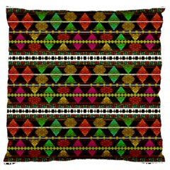Aztec Style Pattern Large Cushion Case (two Sided)