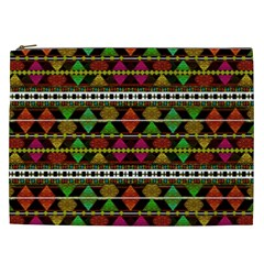 Aztec Style Pattern Cosmetic Bag (xxl)