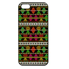 Aztec Style Pattern Apple iPhone 5 Seamless Case (Black)
