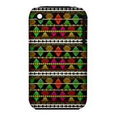 Aztec Style Pattern Apple iPhone 3G/3GS Hardshell Case (PC+Silicone)