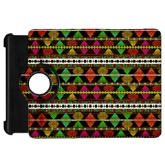 Aztec Style Pattern Kindle Fire HD 7  (1st Gen) Flip 360 Case