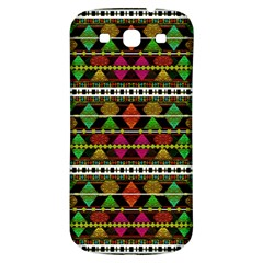 Aztec Style Pattern Samsung Galaxy S3 S III Classic Hardshell Back Case