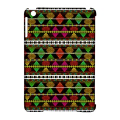 Aztec Style Pattern Apple Ipad Mini Hardshell Case (compatible With Smart Cover)