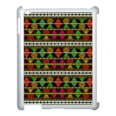 Aztec Style Pattern Apple iPad 3/4 Case (White)