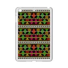 Aztec Style Pattern Apple iPad Mini 2 Case (White)