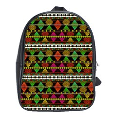 Aztec Style Pattern School Bag (XL)