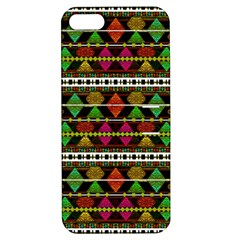 Aztec Style Pattern Apple iPhone 5 Hardshell Case with Stand