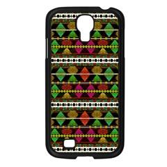Aztec Style Pattern Samsung Galaxy S4 I9500/ I9505 Case (Black)