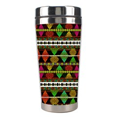 Aztec Style Pattern Stainless Steel Travel Tumbler