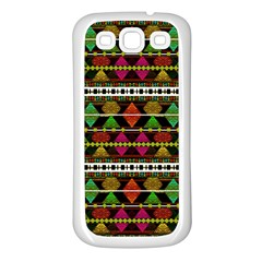 Aztec Style Pattern Samsung Galaxy S3 Back Case (white)