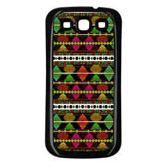 Aztec Style Pattern Samsung Galaxy S3 Back Case (black)