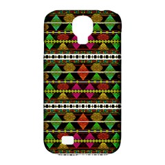 Aztec Style Pattern Samsung Galaxy S4 Classic Hardshell Case (PC+Silicone)