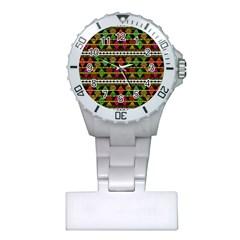Aztec Style Pattern Nurses Watch