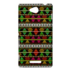 Aztec Style Pattern Sony Xperia C (S39H) Hardshell Case
