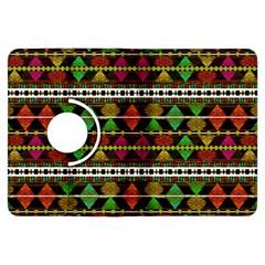 Aztec Style Pattern Kindle Fire HDX 7  Flip 360 Case