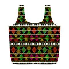 Aztec Style Pattern Reusable Bag (L)