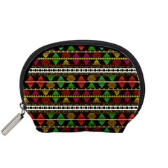 Aztec Style Pattern Accessories Pouch (Small)