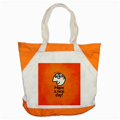 Have A Nice Day Happy Character Accent Tote Bag