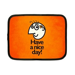 Have A Nice Day Happy Character Netbook Sleeve (Small)