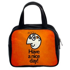 Have A Nice Day Happy Character Classic Handbag (two Sides)