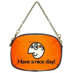 Have A Nice Day Happy Character Chain Purse (One Side)
