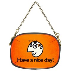 Have A Nice Day Happy Character Chain Purse (Two Sided)