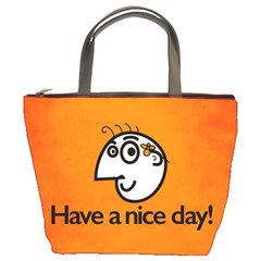 Have A Nice Day Happy Character Bucket Handbag