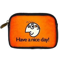 Have A Nice Day Happy Character Digital Camera Leather Case