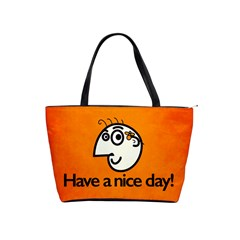 Have A Nice Day Happy Character Large Shoulder Bag