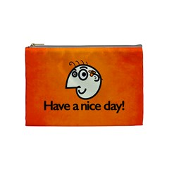 Have A Nice Day Happy Character Cosmetic Bag (Medium)