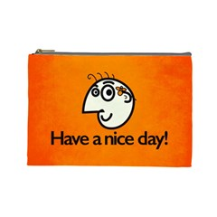Have A Nice Day Happy Character Cosmetic Bag (Large)