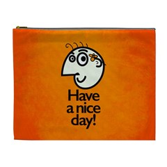 Have A Nice Day Happy Character Cosmetic Bag (XL)