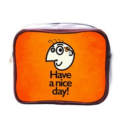 Have A Nice Day Happy Character Mini Travel Toiletry Bag (One Side)
