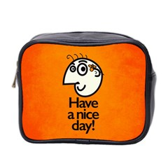 Have A Nice Day Happy Character Mini Travel Toiletry Bag (two Sides)