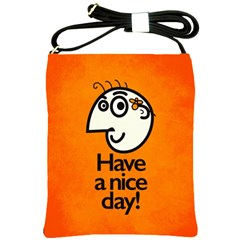 Have A Nice Day Happy Character Shoulder Sling Bag