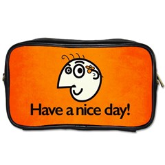 Have A Nice Day Happy Character Travel Toiletry Bag (One Side)