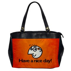 Have A Nice Day Happy Character Oversize Office Handbag (One Side)