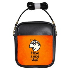 Have A Nice Day Happy Character Girl s Sling Bag