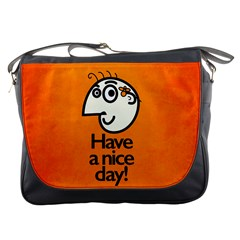 Have A Nice Day Happy Character Messenger Bag