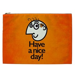 Have A Nice Day Happy Character Cosmetic Bag (XXL)