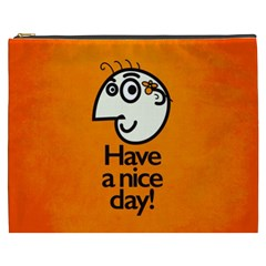 Have A Nice Day Happy Character Cosmetic Bag (XXXL)