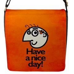 Have A Nice Day Happy Character Flap Closure Messenger Bag (Small)