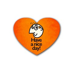 Have A Nice Day Happy Character Drink Coasters 4 Pack (Heart)
