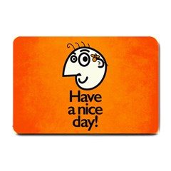 Have A Nice Day Happy Character Small Door Mat