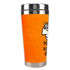 Have A Nice Day Happy Character Stainless Steel Travel Tumbler