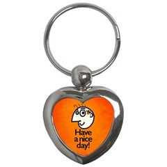 Have A Nice Day Happy Character Key Chain (heart)