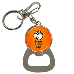 Have A Nice Day Happy Character Bottle Opener Key Chain