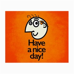 Have A Nice Day Happy Character Glasses Cloth (Small, Two Sided)